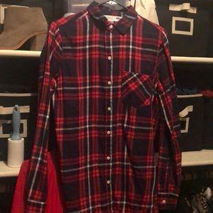 Blue & Red Plaid Shirt